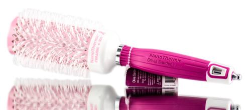 Olivia Garden Breast Cancer Awareness NanoThermic Ceramic + Ion Brush