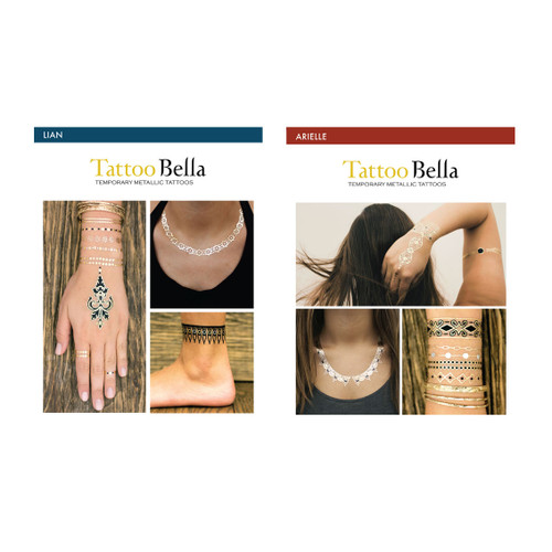 Tattoo Bella Temporary Metallic Tattoos