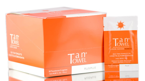 TanTowel Self-Tan Towelette - Half Body Application (Plus)
