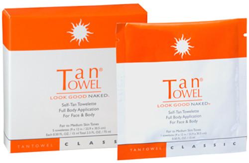 TanTowel Self-Tan Towelette - Full Body Application (Classic)