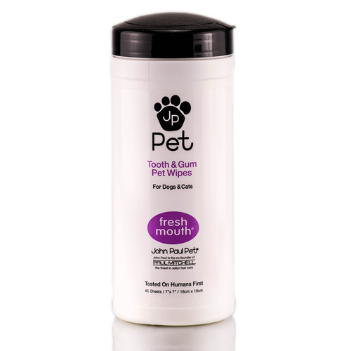 John Paul Pet Tooth & Gum Wipes For All Pets