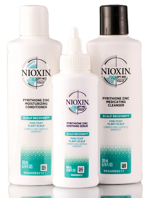 Nioxin Scalp Recovery For Itchy Flaky Scalp - 3 Piece Kit (Cleanser Shampoo, Conditioner, Serum)