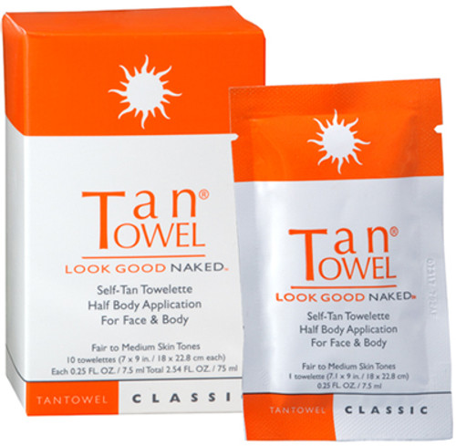 TanTowel Self-Tan Towelette - Half Body Application (Classic)