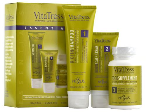 Nexxus VitaTress Essentials Kit - shampoo/scalp-creme/supplement