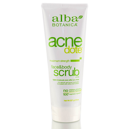 Alba Botanica ACNEDote Maximum Strength Face & Body Scrub