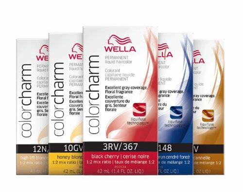 Wella Color Charm LIQUID Permanent Hair color, 100% Gray Coverage