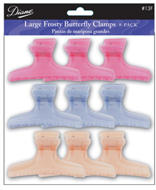 Diane Large Frosty Butterfly Clamps