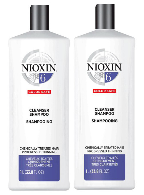 Nioxin System 6 Cleanser for medium to coarse hair
