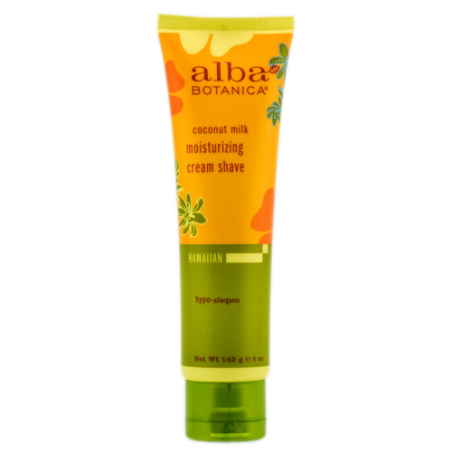 Alba Botanica Coconut Milk Moisturizing Cream Shave - 5 oz