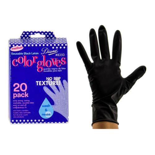 Other Accessories: Diane Medium Reusable Black Latex Color Gloves