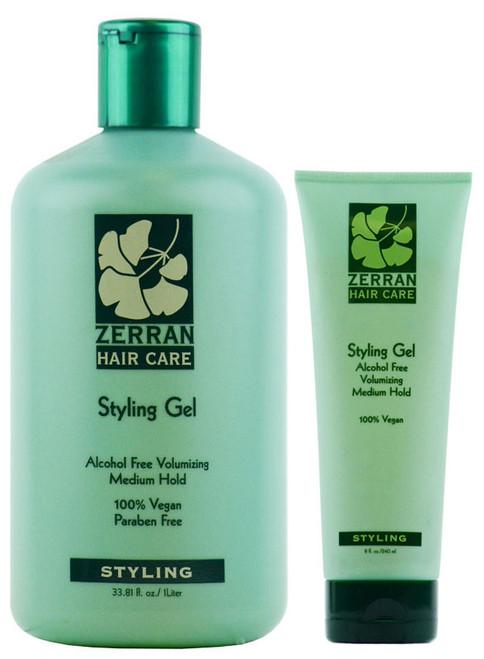 Zerran Styling Gel - Alcohol Free Volumizing Medium Hold