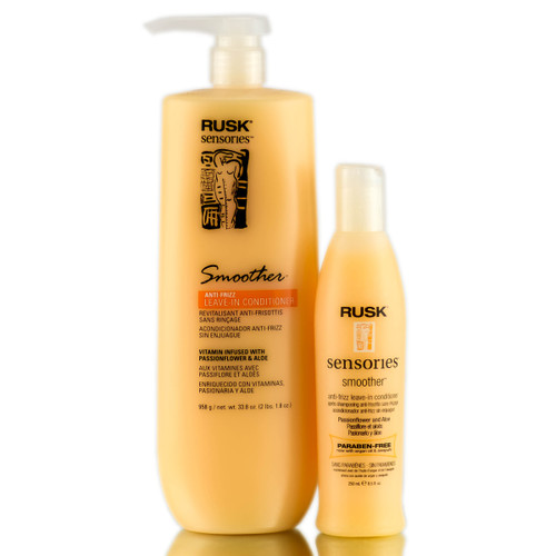 Rusk Smoother Conditioner - passionflower & aloe leave-in texturizing conditioner