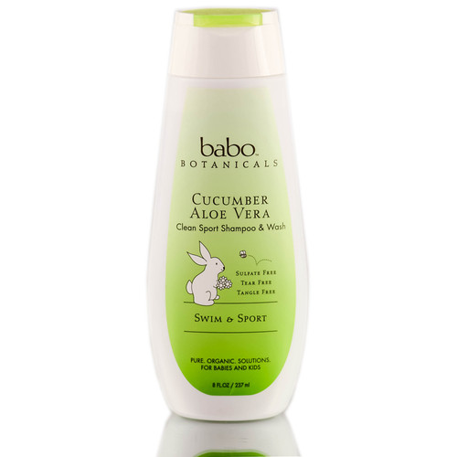 Babo Botanicals Cucumber Aloe Vera Clean Sport Shampoo and Wash