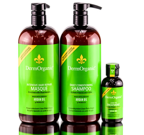 Dermorganic Argan Oil Hair Treatments Back Bar Kit