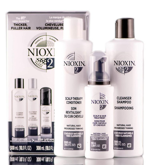 Nioxin System 2  For Natural Hair Progressed Thinning Kit
