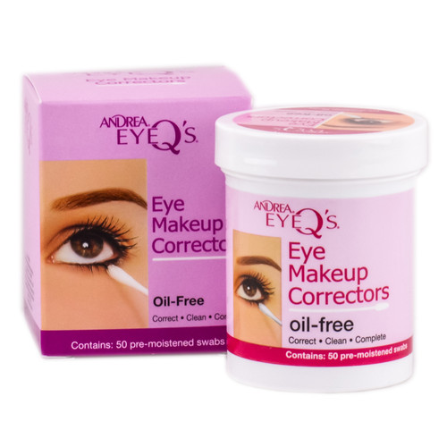 Andrea Eye Q's Make Up Correctors Oil Free Pre-Moistened Swabs