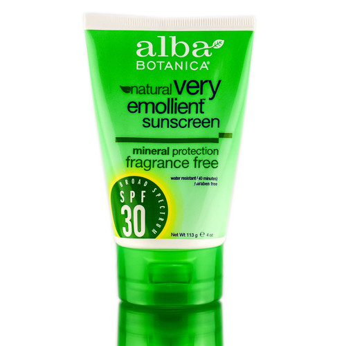 Alba Botanica Very Emollient Sunscreen Mineral Protection Fragrance Free