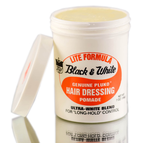 Black & White Genuine Pluko Hair Dressing Pomade (Lite Formula)