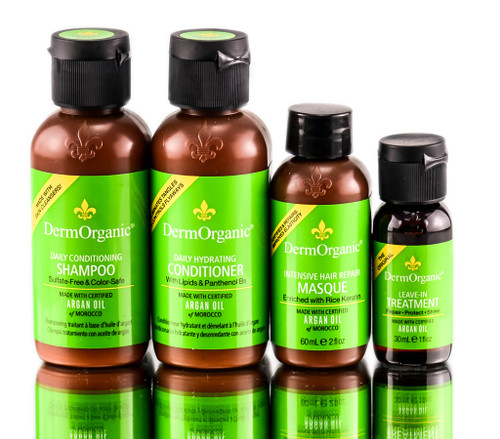 Dermorganic Argan Oil Hair Care - Travel Set