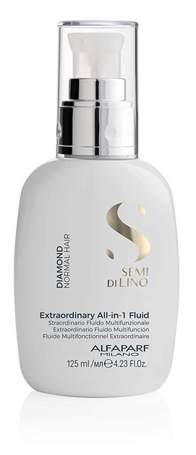 Alfaparf Semi Di Lino Diamond Extraordinary All-in-1 Fluid (Detangles, Protects, Softens, Smooths, Controls, Seals Hair)