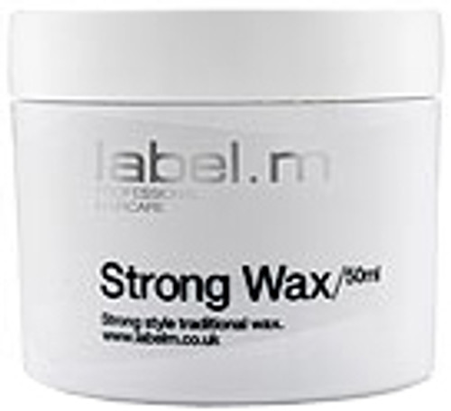 Label. M Strong Wax