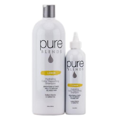 Pure Blends Hydrating Color Depositing Shampoo - Lemon