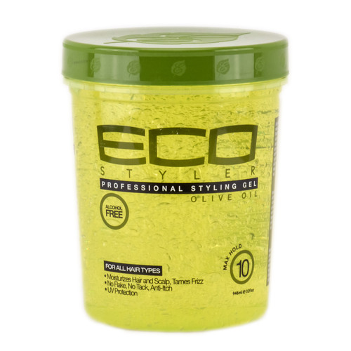 Eco Krystal Styler Professional Styling Gel Olive Oil - For All Hair Types