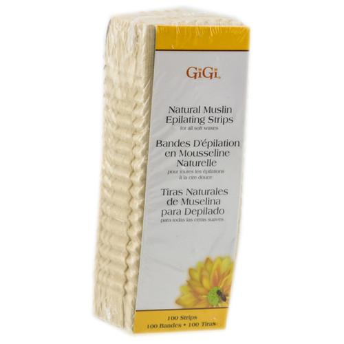GiGi Natural Muslin Epilating Strips (100 Strips)