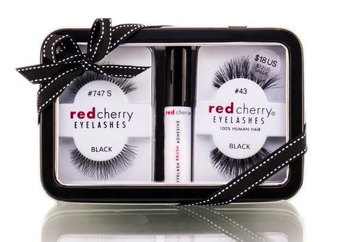 Troika Red Cherry Eyelashes Gift Set