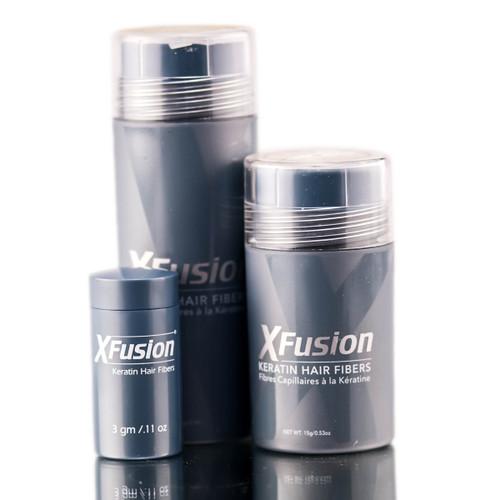 XFusion Black Keratin Hair Fibers