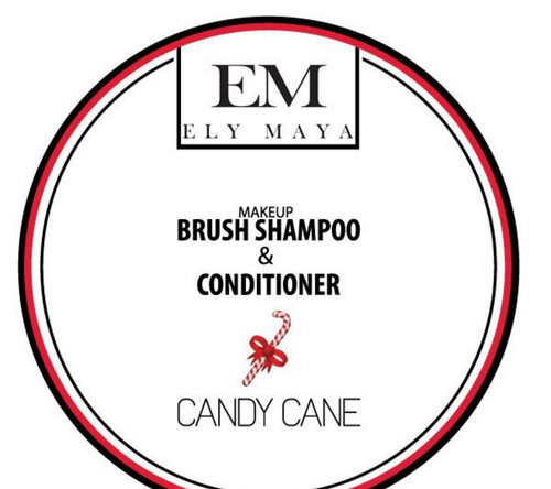 Ely Maya Make-up Brush Shampoo & Conditioner - Candy Cane