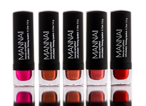 Manna Kadar 5 Piece Semi-Matte Lipstick Collection