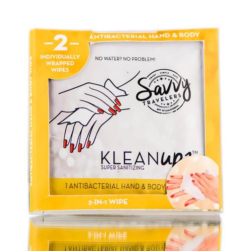 Savvy Travelers KleanUps 2-in-1 Antibacterials