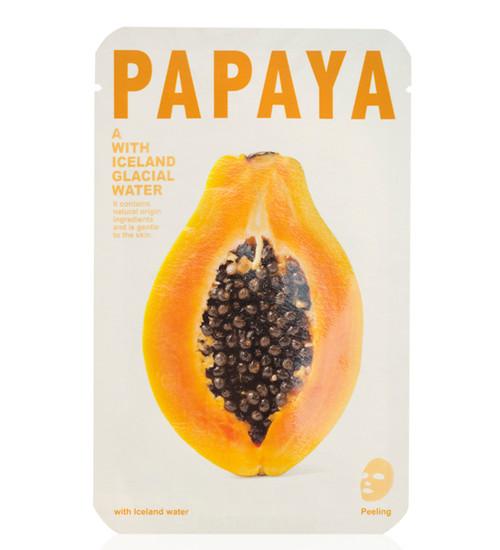 Mishe Papaya Iceland Glacial Water Sheet Mask