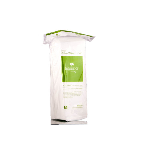 Intrinsics Naturally Large Cotton Wipes 4x4