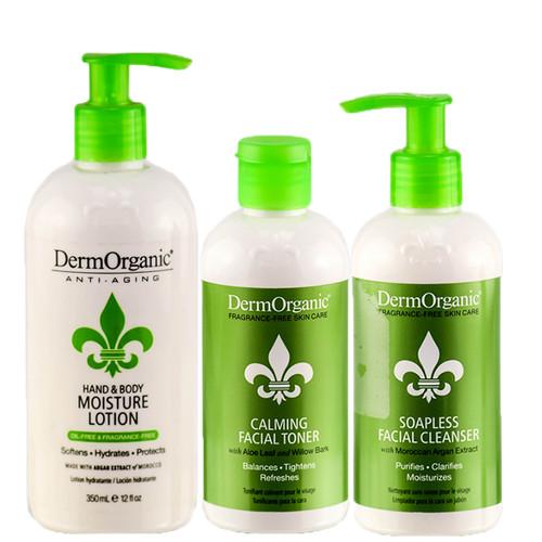 DermOrganic 3pcs Retail Bag Skin Care Anti-Aging