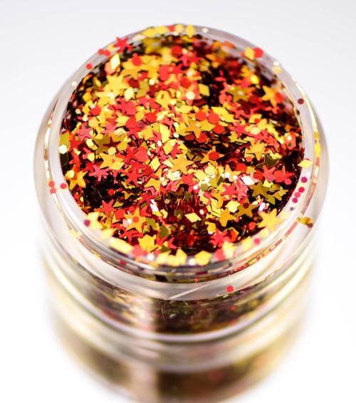 Stinaface Custom Chunky Glitter - Red & Gold