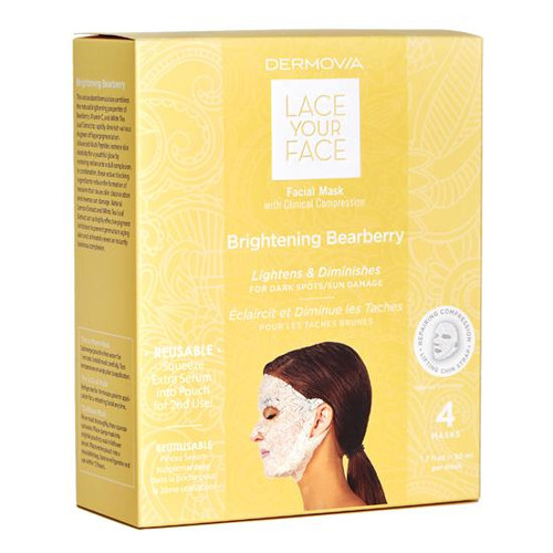 Dermovia Lace Your Face Facial Mask Brightening Bearberry