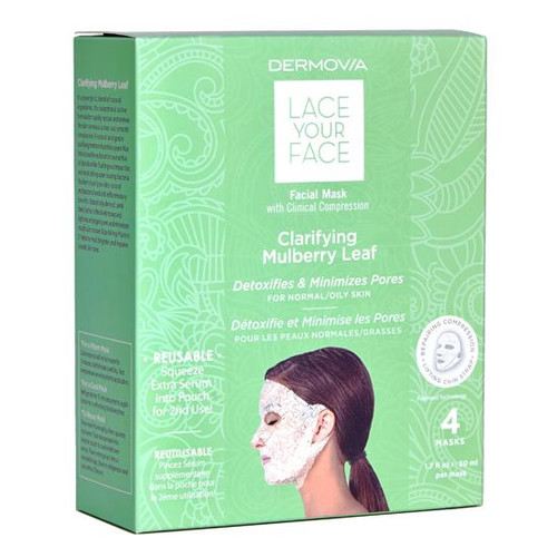 Dermovia Lace Your Face Facial Mask Clarifying Mulberry Leaf