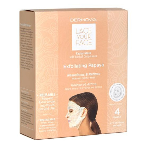 Dermovia Lace Your Face Facial Mask Exfoliating Papaya