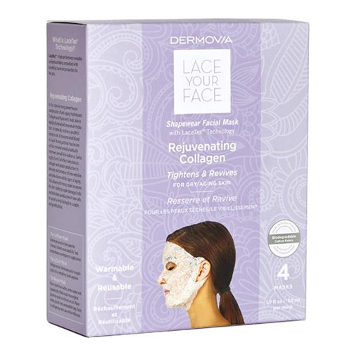 Dermovia Lace Your Face Facial Mask Rejuvenating Collagen