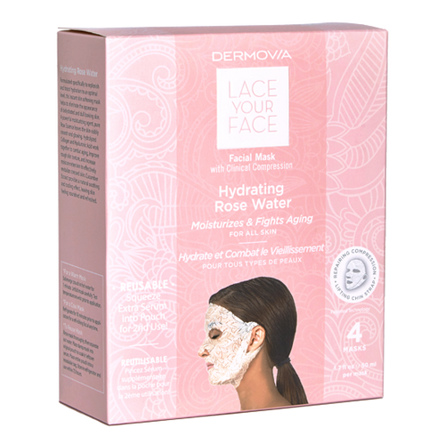Dermovia Lace Your Face Facial Mask Hydrating Rose Water