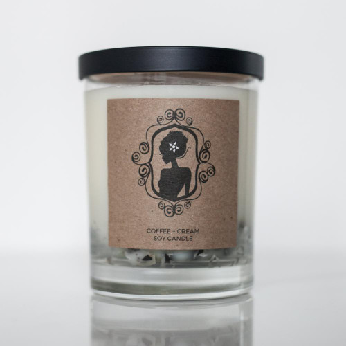 Hip & Chick Organiks Coffee + Cream Soy Candle