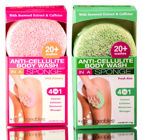 Spongeables Anti-Cellulite Body Wash Sponge
