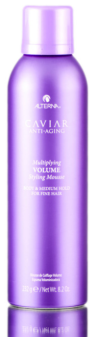 Alterna Caviar Anti Aging MULTIPYING VOLUME STYLING MOUSSE, Body & Medium Hold for FINE HAIR