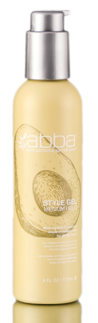ABBA Style Gel, Medium Hold - Mica Crystals & Avocado for All Hair Types