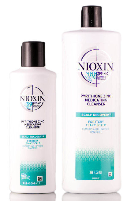 Nioxin SCALP RECOVERY Pyrithione Zinc Medicating Cleanser Shampoo For Itchy Flaky Scalp
