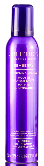 Obliphica Seaberry Thickening Mousse Medium Hold For All Hair Types