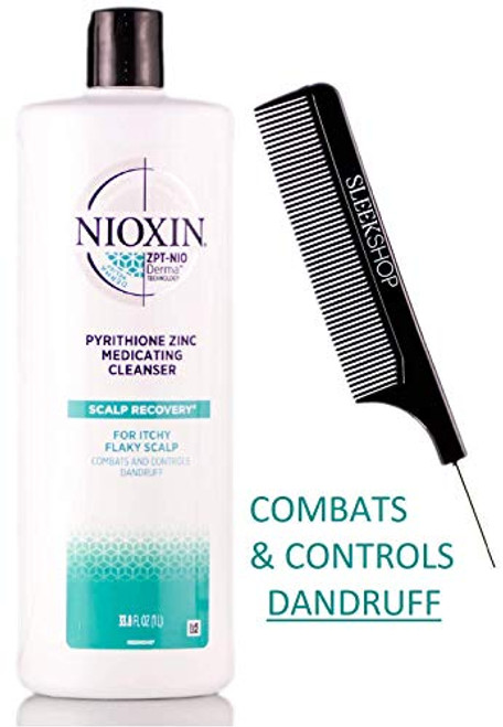 Nioxin SCALP RECOVERY Medicating Shampoo Cleanser PYRITHIONE ZINC (with Comb)