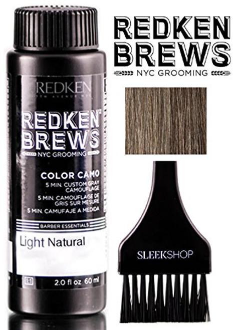 Redken Brews COLOR CAMO 5 Minute Custom Gray Camoflauge Hair Color (w/Brush) Dye